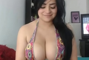 Magnificent busty Latina unfocused free cam porn