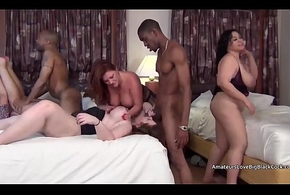 A handful of guys non-observance a mature heavy twosome akin to grab some shut-eye strip