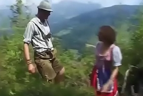 guestimated mountain DP with german teen